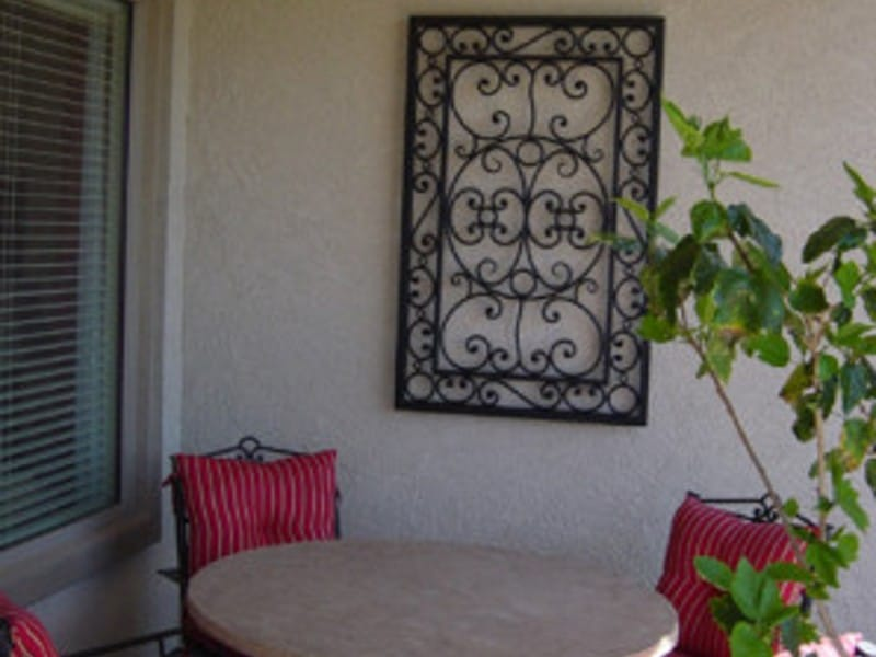 Metal Patio Scrollwork