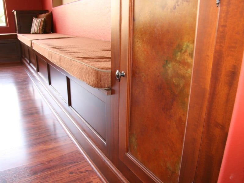 Bench seating - close up
