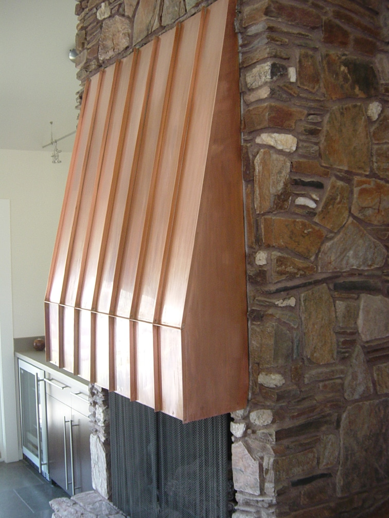 Copper Fireplace Hood Restoration Ck Valenti Designs Inc