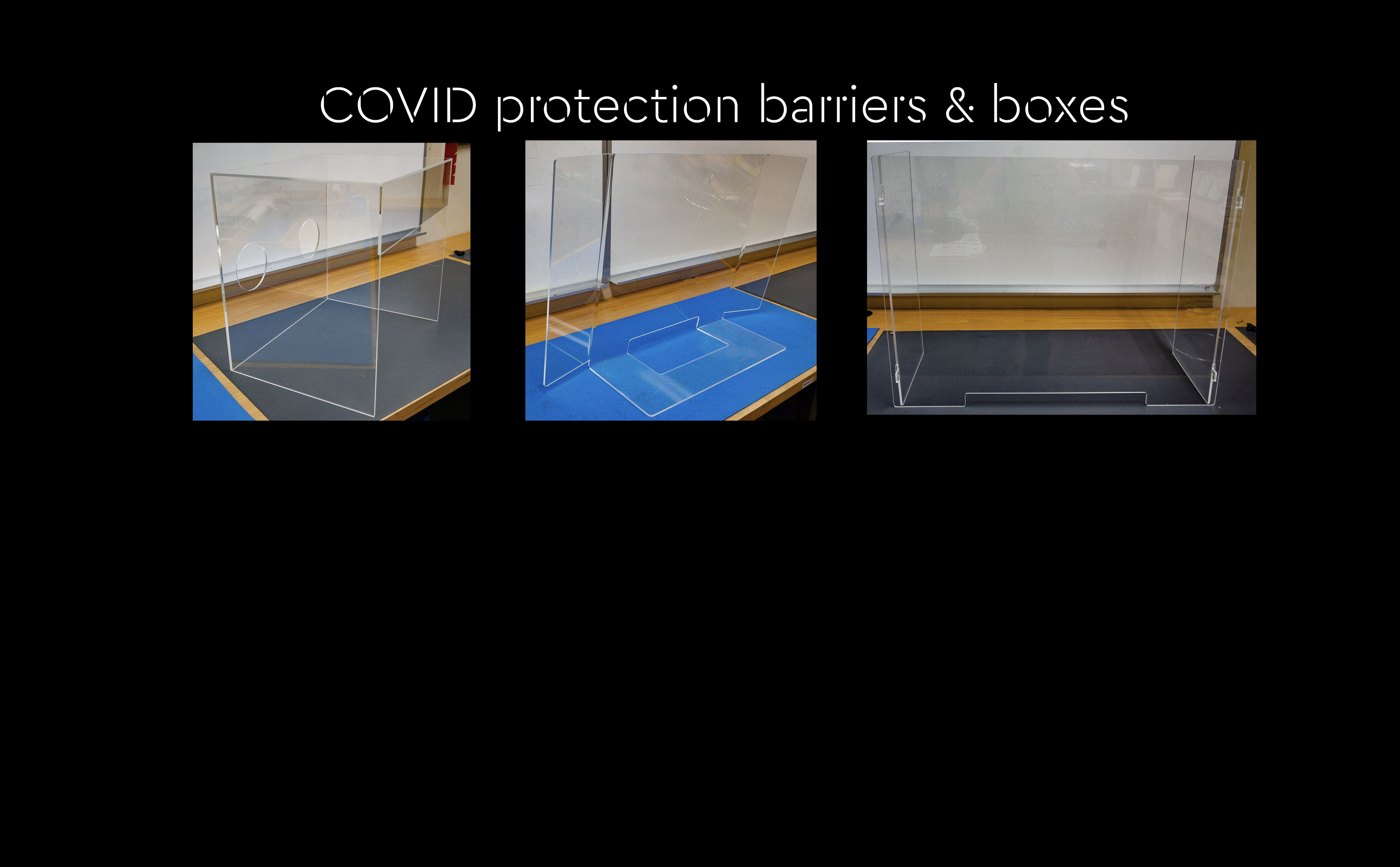 COVID Protection Barriers & Intubation boxes